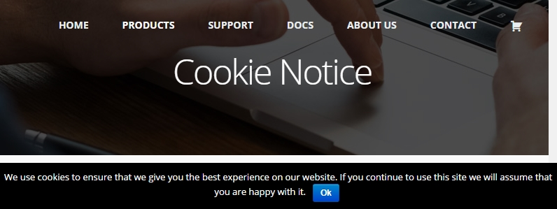 wordpress utvidelser cookie notice